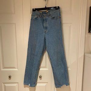 Levi Light Wash Ribcage Jeans